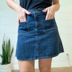 Lucky Brand High Waisted Denim Mini Skirt